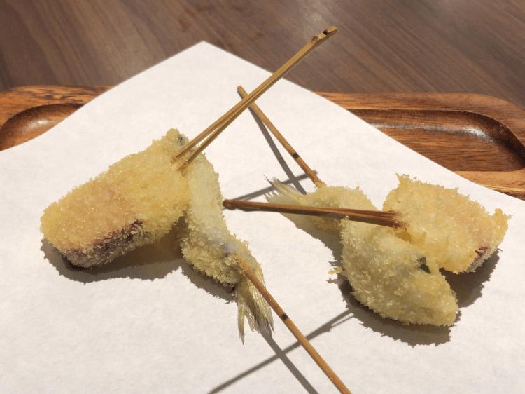 合鴨ロースとキス@串揚げと和食 もりもと 浜松町