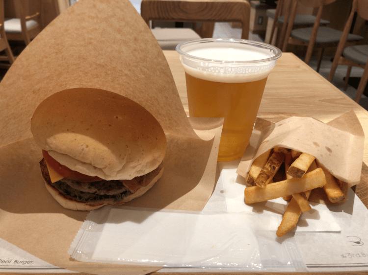"Big One""Burger+ポテトS+ビール@the 3rd burger 虎ノ門ヒルズ"