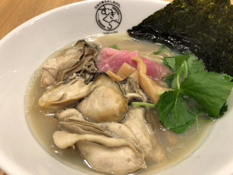 寿製麺よしかわの牡蠣そば@むぎくらべ 小川町