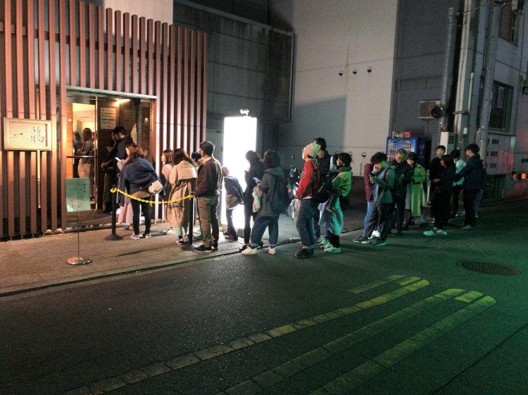 高松瓦町「一鶴」 高松店の長蛇の列