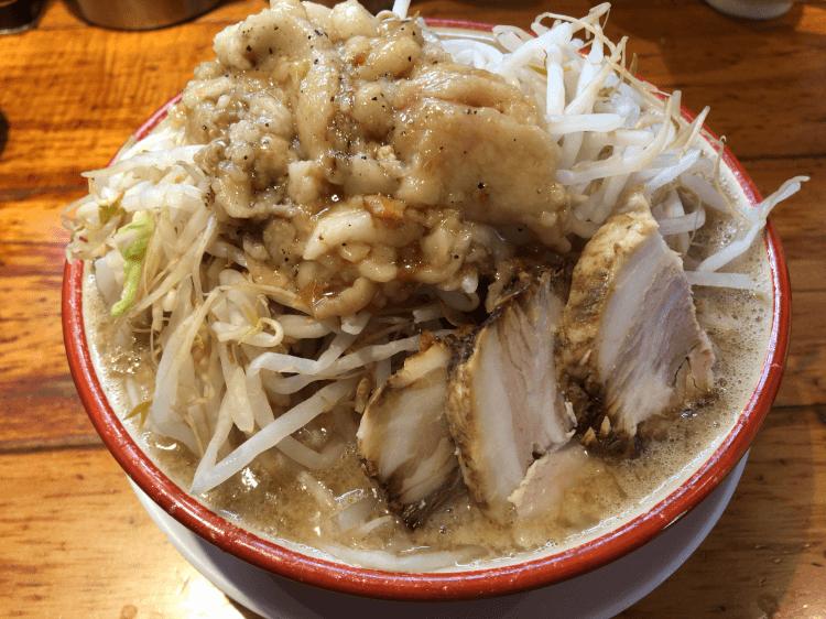 らーめん野菜、アブラ増し@らーめんバリ男 新橋本店