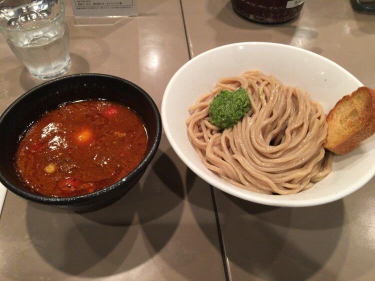 海老つけ麺味玉@五ノ神製作所 新宿