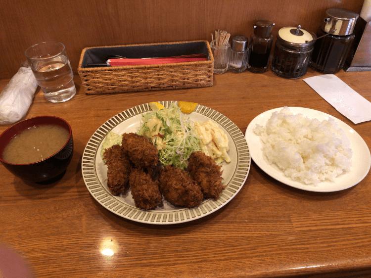 日本一のカキ カキフライセット@洋食GOTOO 大塚