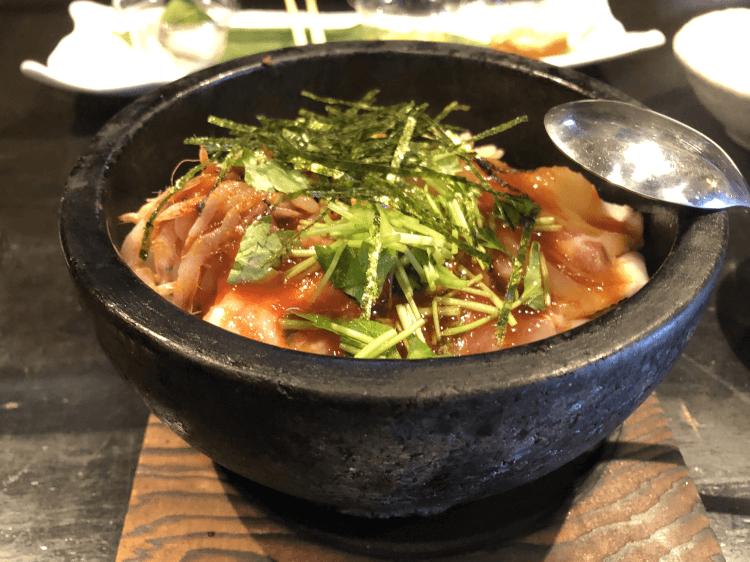 鯛めし石焼ビビンパ@魚菜由良2号店 大井町