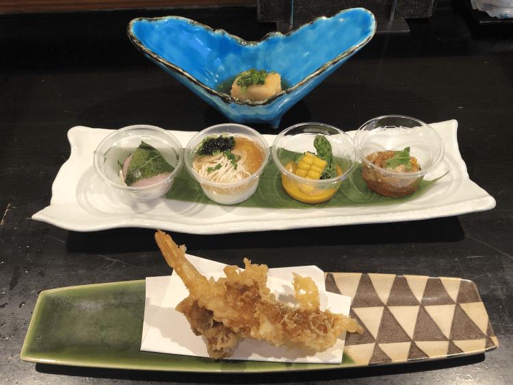 前菜と小鉢@魚菜由良2号店 大井町