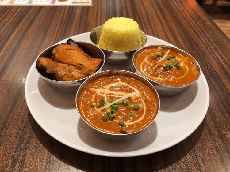 2種のカレーセット@ネパールインド料理レストラン HAPPY 田町東口店