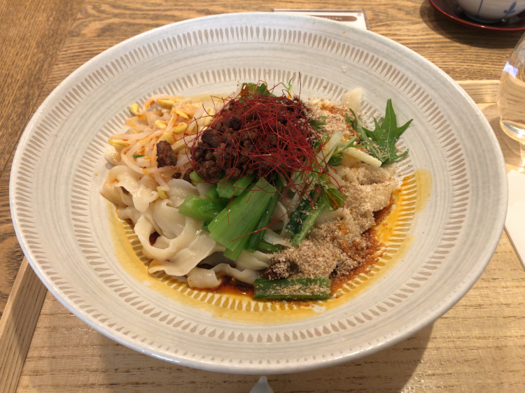 刀削麺の汁なし担々麺@はしづめ 広尾