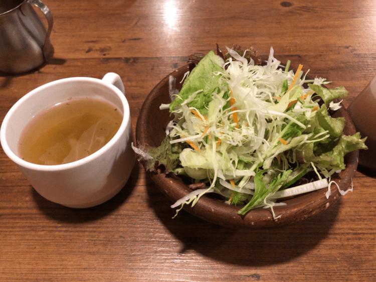 スープとサラダ@ヒーローズ 秋葉原