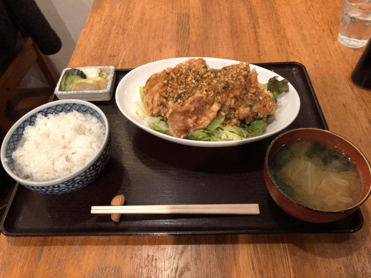 油淋鶏とごはんセット@菱田屋 駒場東大前
