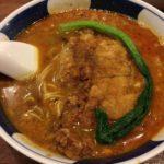 看板メニューの坦々拝骨麺が美味い! 銀座の「支那麺はしご」