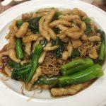 マカオ セナド広場の美味しい広東料理「黄枝記」で豚肉の細切りあんかけ焼きそば