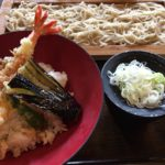 そばも天丼も美味しいね 大井町の「そば道 」海老天丼のランチセット
