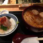 こちは並ばずに食べられます 日本橋「稲庭うどんとめし 金子半之助」