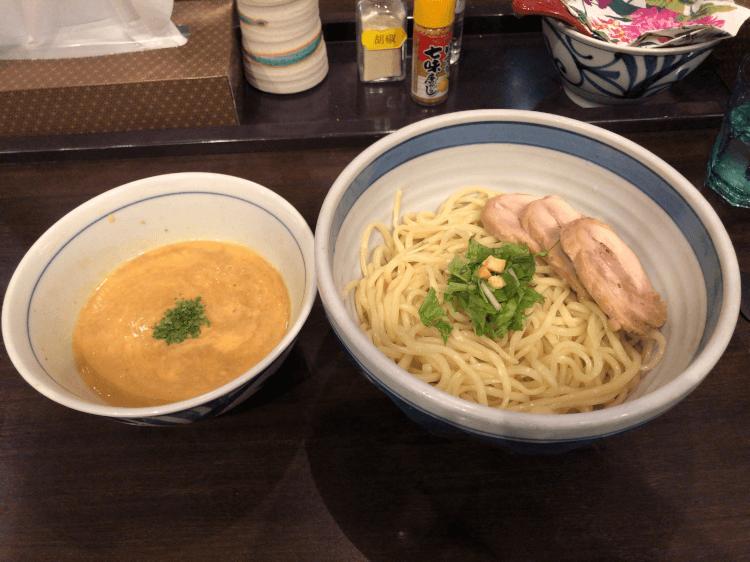 うにソースつけ麺@斑鳩 東京ラーメンストリート
