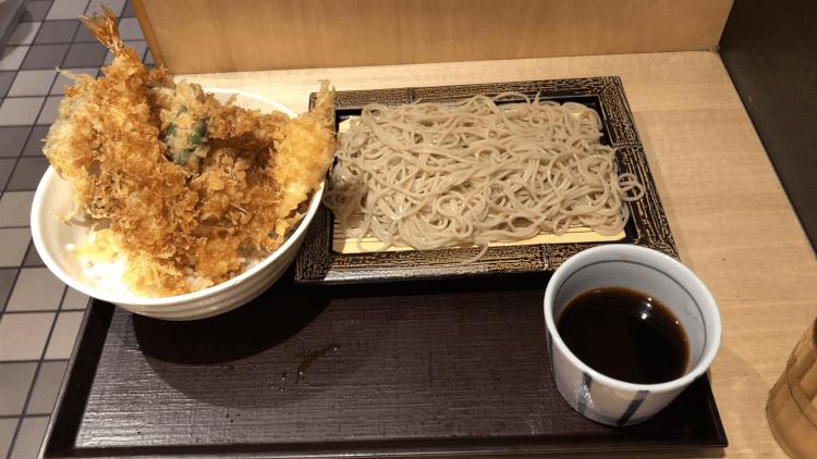 天丼セット@いわもとQ 神保町店