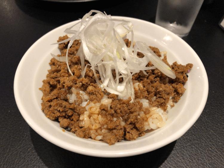 挽き肉丼@人類みな麺類 Red 赤坂