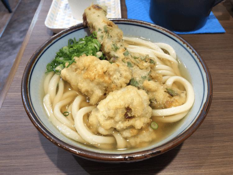 天ぷらうどん(中) @肉讃岐 甚三うどん 神田