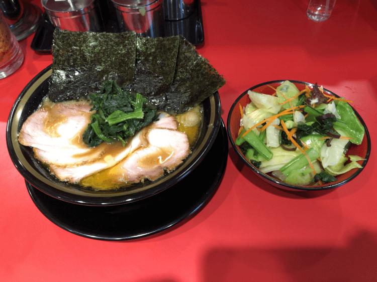 チャーシューメンと野菜畑@環2家 蒲田店