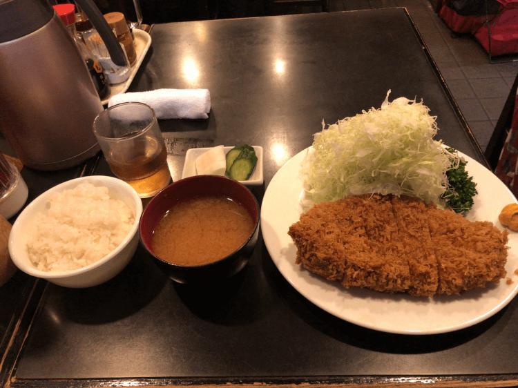 上ロースかつ定食@とんかつ かつ壱 目黒