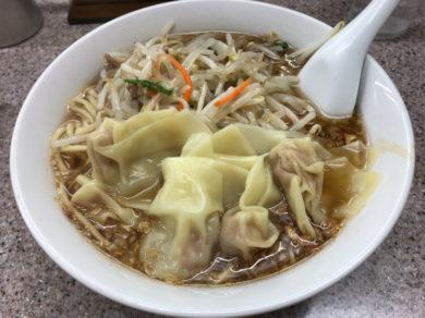 もやしワンタン麺@喜楽 渋谷