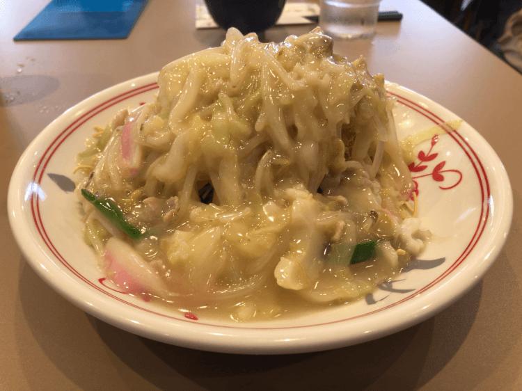 王さんの皿うどん(細麺)@江山楼新館 長崎新地中華街