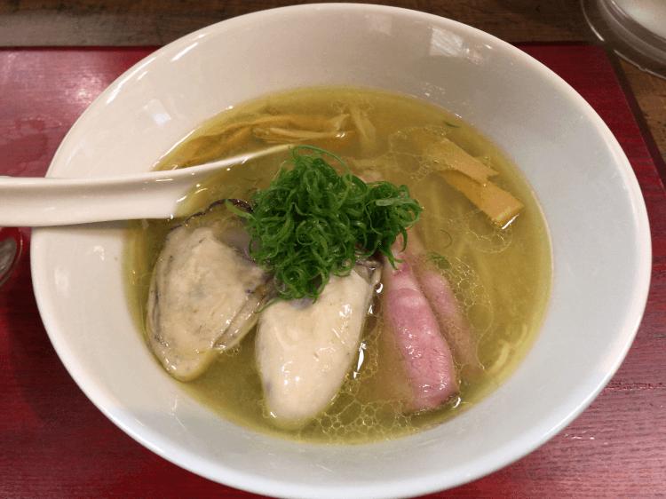 広島産 牡蠣 塩蕎麦@神保町 黒須