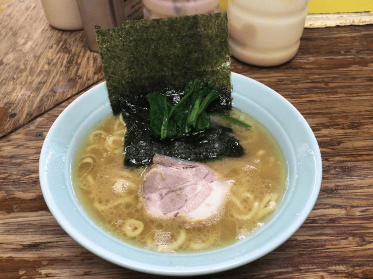 ラーメン+国産ほうれん草@まこと家 青物横丁