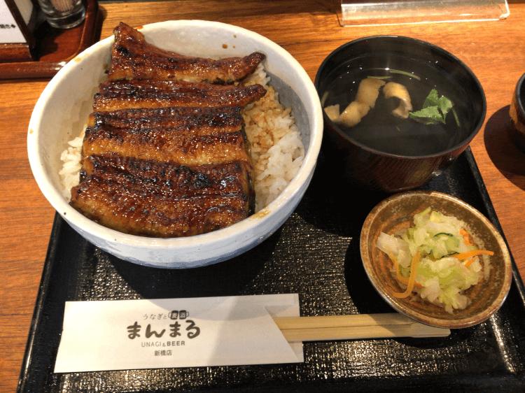 上うな丼@うなぎと麦酒のまんまる 新橋店