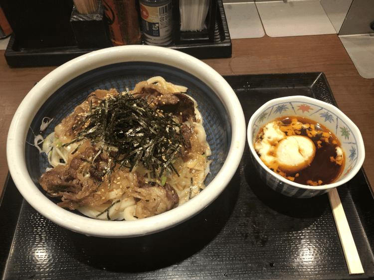 神戸牛旨辛つけうどん@丸亀製麺 大崎 ThinkPark店