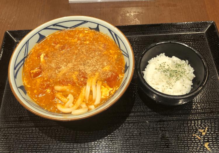 トマたまカレーうどん@丸亀製麺 大崎ThinkPark店