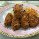 【とんかつ檍】とも姉妹店?「まるやま食堂」旗の台 でカキフライ定食