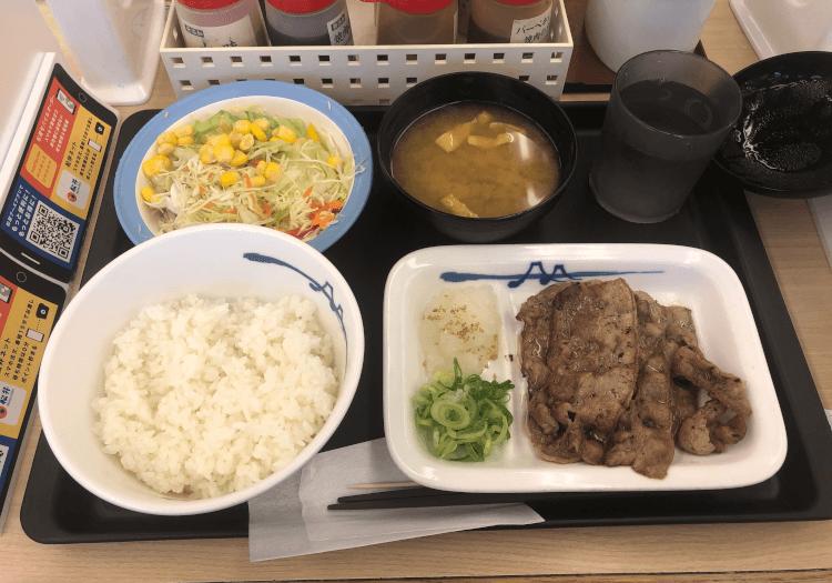 アンガス牛焼肉定食@松屋 東大井町店