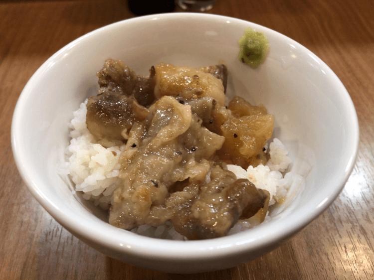 松坂牛の和風牛スジ煮込み丼@MENクライ 浜松町