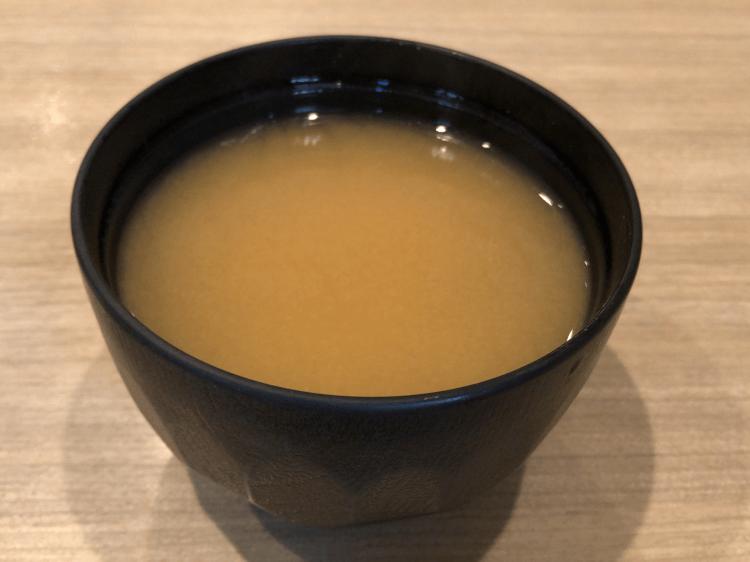 味噌汁@寿司の美土里 銀座店