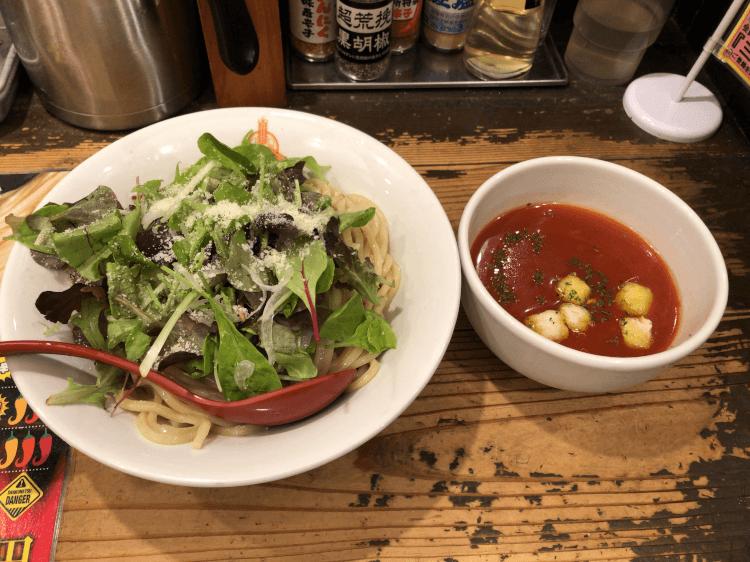冷製トマトつけ麺@三田製麺所 三田本店