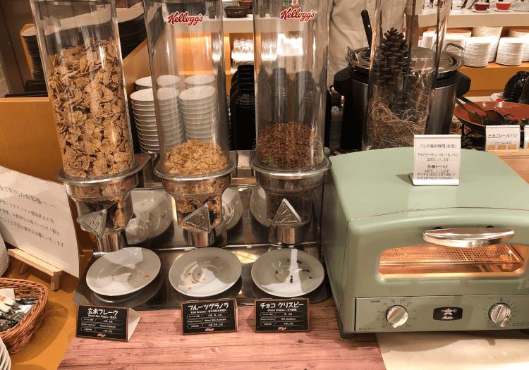 神戸三宮 ホテルモントレの朝食バイキング シリアル