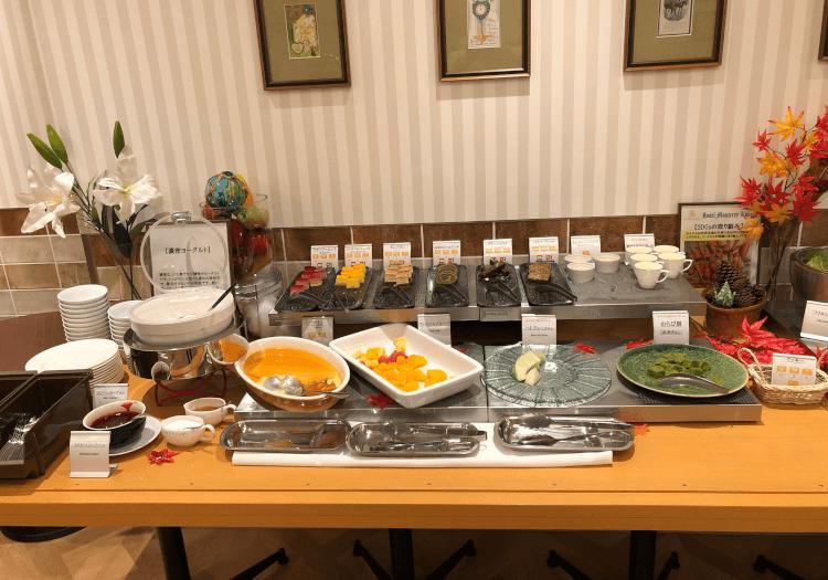 神戸三宮 ホテルモントレの朝食バイキング デザート
