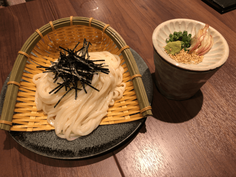 稲庭ざるうどん@ 串揚げと和食 もりもと  浜松町