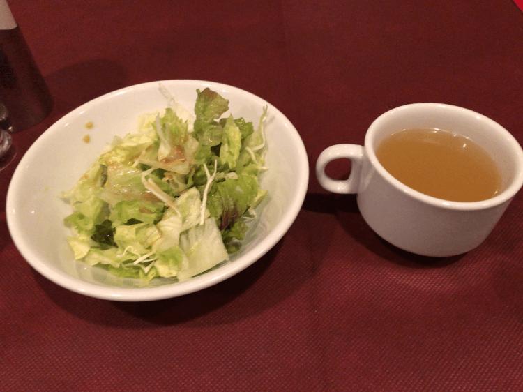 サラダとカップスープ@ニコラス新橋店