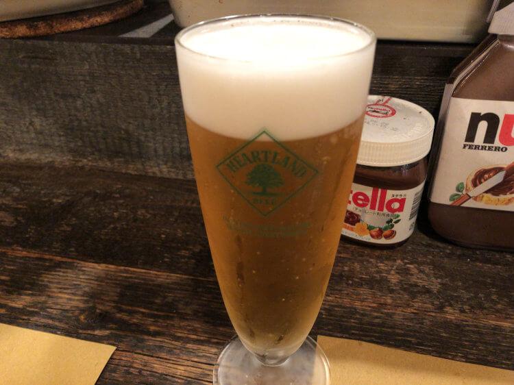大井町NIDO(ニド)のハートランドビールのジョッキ