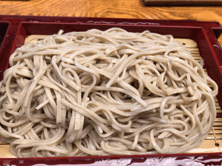 冷たい蕎麦@大井更科本店 大井町