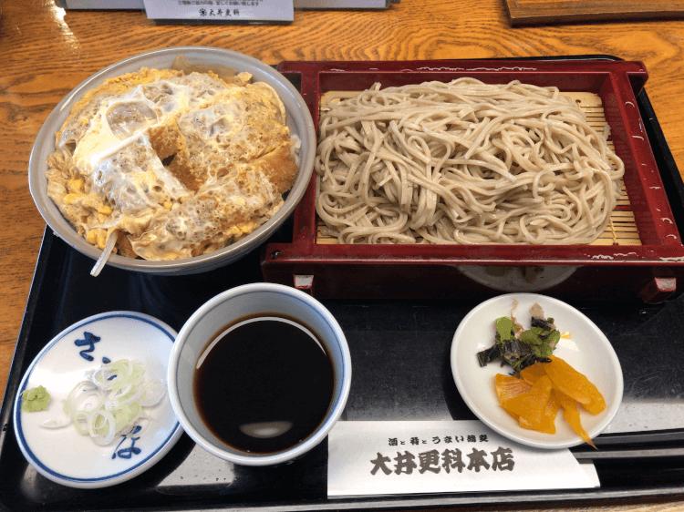 かつ丼せっと(冷たい蕎麦 大盛)@大井更科本店 大井町