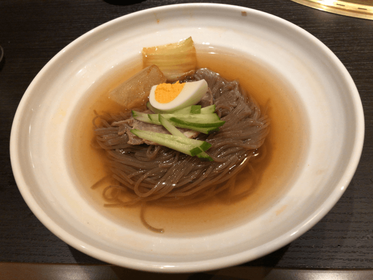 名物 韓国冷麺@ワンカルビ ルララこうほく店