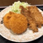 大森・山王の庶民的な洋食の老舗「おおみや」でアジフライとクリームコロッケのランチ