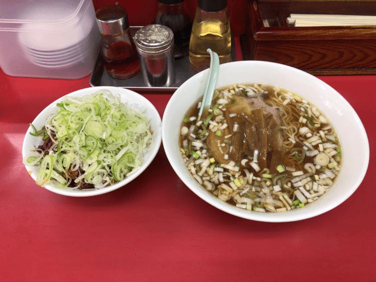 純レバ丼ミニサイズ&ラーメン@菜苑 亀戸