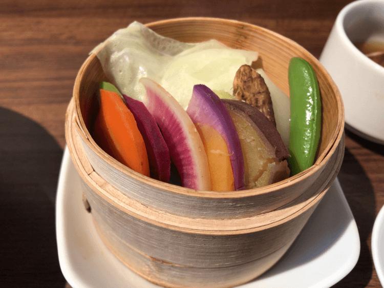 彩り野菜のせいろ蒸し@茶菜カフェ謝謝 恵比寿