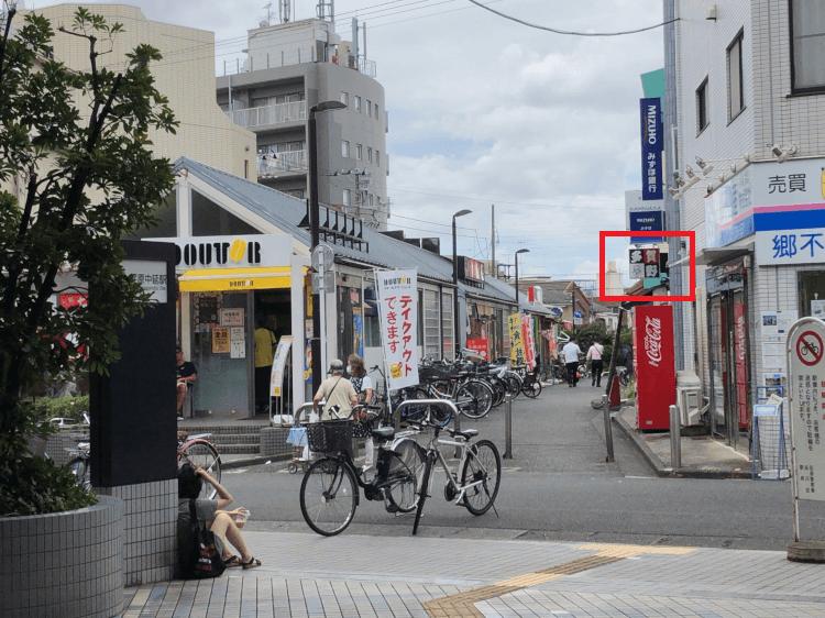 荏原中延駅改札から見た多賀野