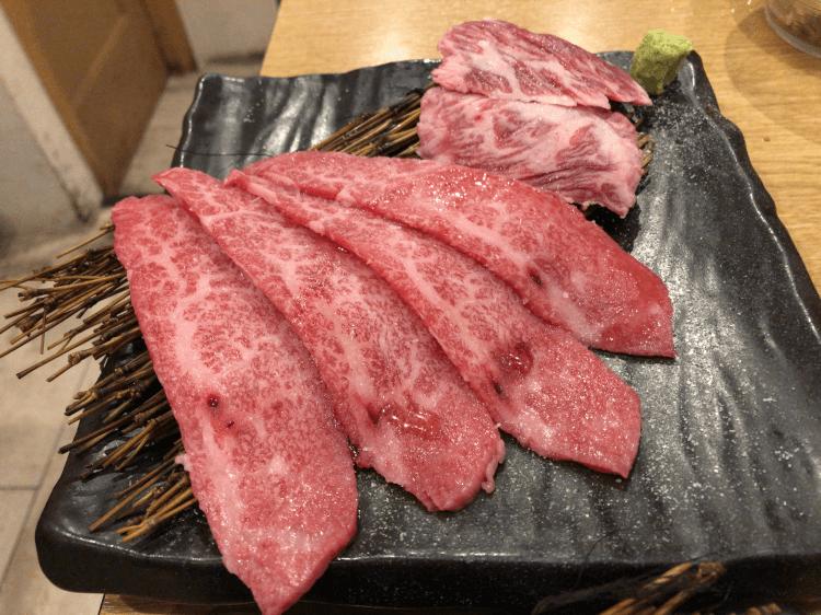 カルビと和牛上ハラミ@焼肉とどろき 浅草橋店