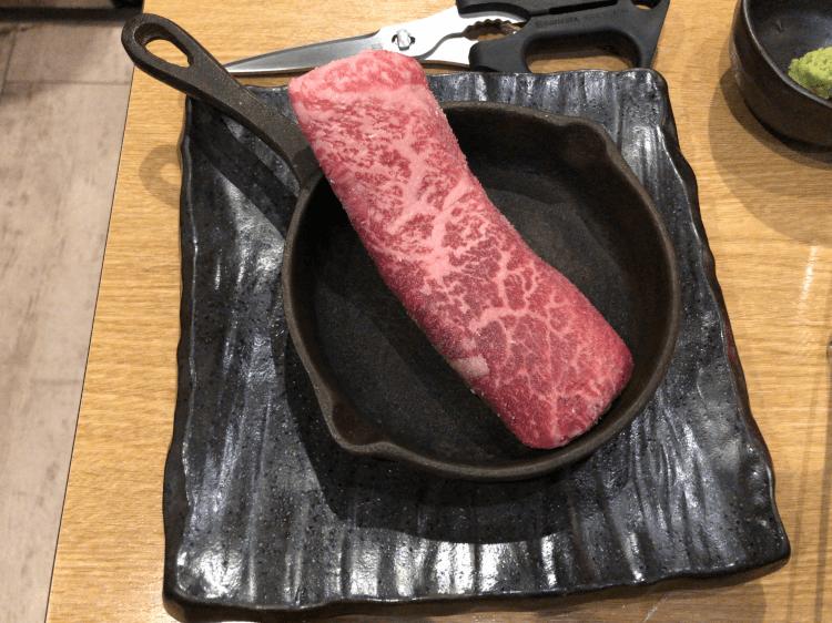 黒毛和牛 A5 リブマキステーキ@焼肉とどろき 浅草橋店