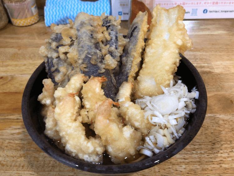 天ぷら盛り合わせそば@とんがらし 水道橋